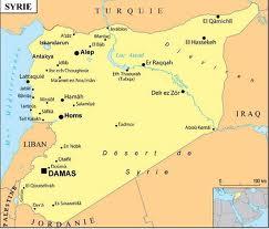 carte de la syrie guerre israel liban jordanie egypte irak
