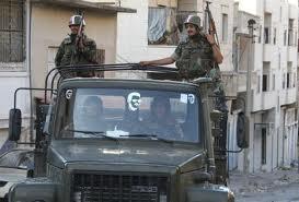 Véhicule de l'armée syrienne patrouillant à Bdama (près de la frontière turque) le 19 juin dernier.