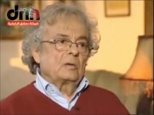 Le grand poète syrien Adonis s'exprime sur la situation