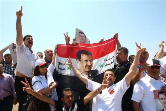 des partisans du president bashar al-assad a antalya le 2 juin 2011 afp-adem-altan
