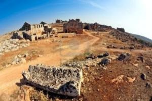 vue serjilla est une des villes mortes en syrie unique romaine byzantine