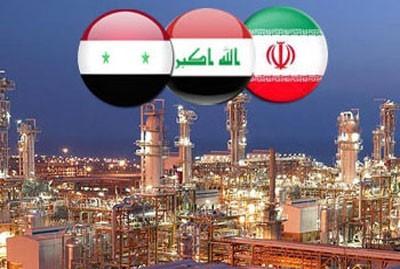 """Représentation allégorique de l'accord tripartite sur le gazoduc """"islamique"""", due à l'agence Sana"""