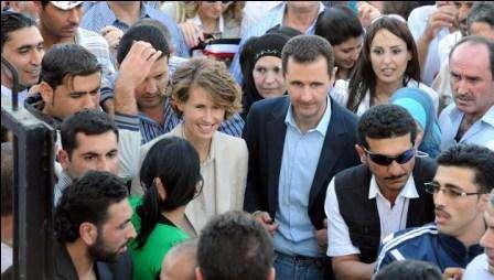 Asma el-Assad, première dame de Syrie, est toujours dans son pays, aux côtés de son mari Bachar et du peuple syrien.