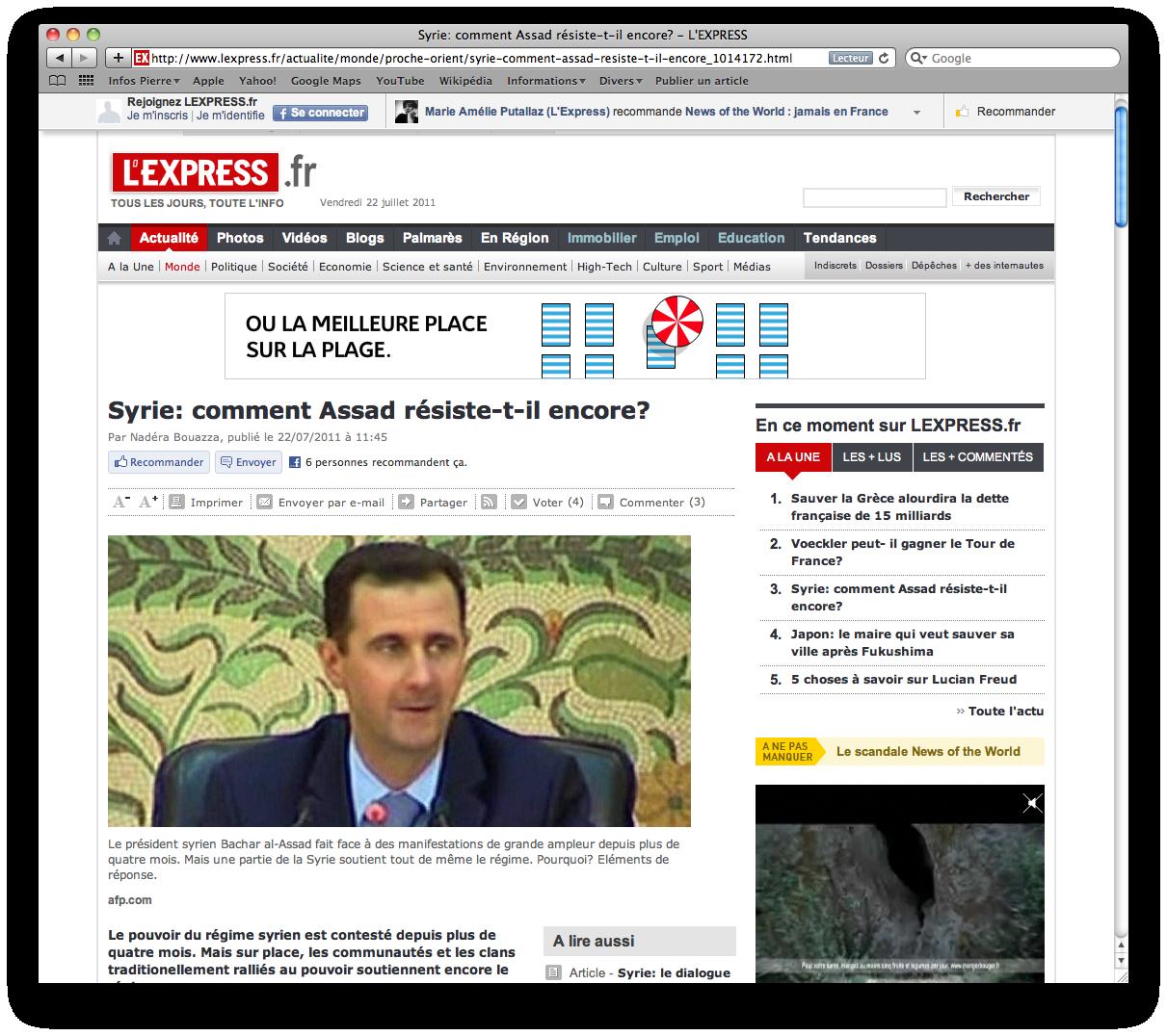 Capture d'écran 2011-07-22 L'Express : Comment Assad résiste-t-il encore ?