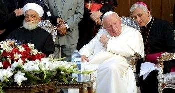 Jean-Paul II et le grand Mufti de Damas (mai 2001)