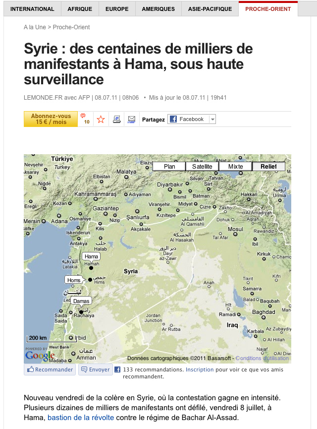 Article Le Monde Hama