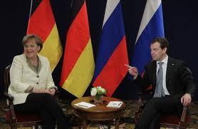 Angela Merkel et Dimitri Medvedev