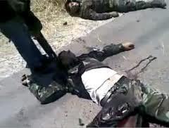 Soldats tués à Jisr al-Choughour, par des groupes armés salafistes