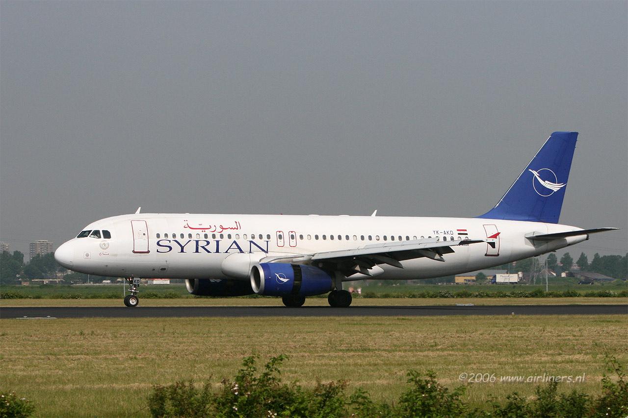 Un des airbus A320 des Syrian Arab Airlines aujourd'hui cloués au sol pour cause d'embargo américain
