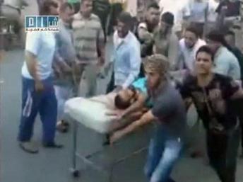 Extrait d'une vidéo de YouTube : un civil blessé à Hama le 31 juillet. Par qui et comment ?