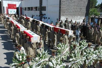 Obsèques, fin juin à Homs, de 20 soldats tombés à Jisr al-Choughour