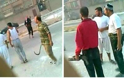 Extrait d'une vidéo où l'on voit des extrémistes armés tirant sur l'armée et la police