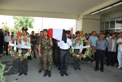 Obsèques, le 2 août, de 8 soldats tombés à Hama et Deir Ezzor