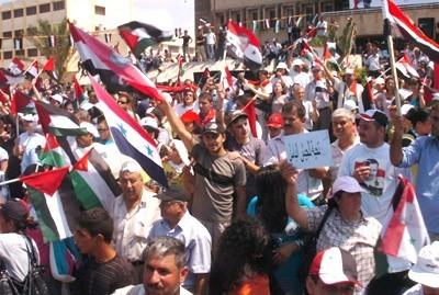 Manifestation de rue en faveur du régime