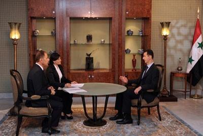 Bachar al-Assad, dimanche 21 août, à la télévision syrienne