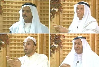 Quatre des chefs de tribus du gouvernorat de Deir Ezzor intervenant à la télévision syrienne