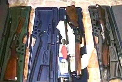 Armes trouvées par les autorités syriennes à Hama