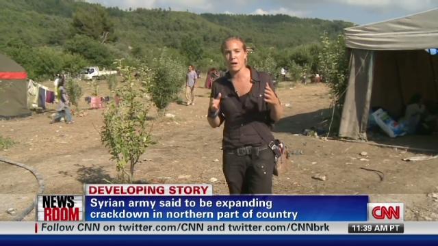 Arwa Damon, de CNN, dans le nord-ouest de la Syrie, à la mi-juin