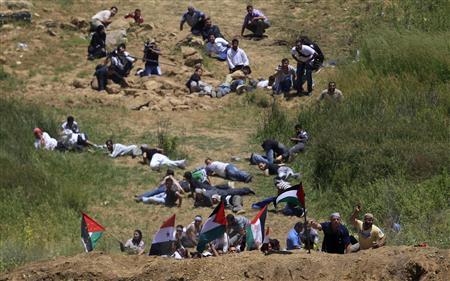 """5 juin 2011 : Tsahal """"testant"""" les réactions syriennes sur des manifestants palestiniens à la frontière du Golan"""