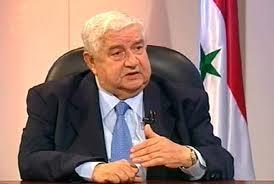 Walid al-mouallem, ministre syrien des Affaires étrangères