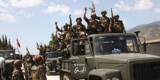Militaires syriens dans le secteur ded Jisr al-Choughour, en juin : ces hommes ont été confrontés très tôt à des activistes armés