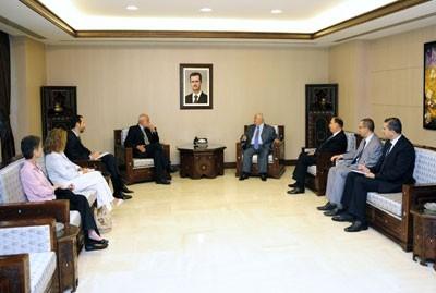 Damas, 4 septembre : Jacob Kellenberger reçu par Walid al-Mouallem, ministre des Affaires étrangères