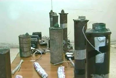 Une partie du matériel saisi dans la ferme de Deraa, le 21 septembre