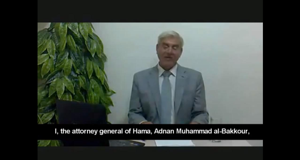 Le procureur al-Bakkour : dissident ou enlevé, mais certainement pas crédible !