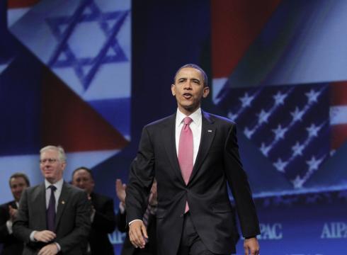 Obama à la convention de l'AIPAC en mai 2011 à Washington : qu'ils soient noirs ou blancs, démocrates ou républicains, ce quii rassemble les présidents américains est plus important que ce qui les divise !