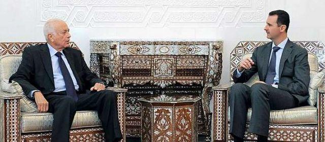 """Nabil al-Arabi & Bachar, à Damas, le 10 septembre dernier : """"Gardez moi de mes amis, mes ennemis je m'en charge !"""""""