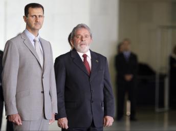 Bachar et Lula à Brasilia, le 30 juin 2010 : l'amitié syro-brésilienne ne date pas d'hier, mais du XIXe siècle