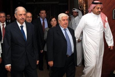 Doha, 30 octobre : arrivée de la délégation syrienne