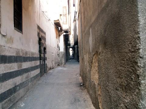 Une rue du vieux Damas : pas beaucoup de touristes pour l'arpenter, en ce moment...