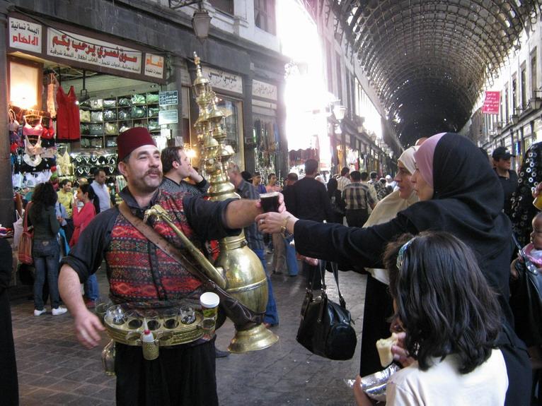 Scène de genre au souk de Damas