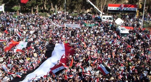 Manifestants pro-Bachar : pour Fisk, ils sont là de leur plein gré