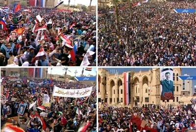 Diverses vues du rassemblement de Raqqa