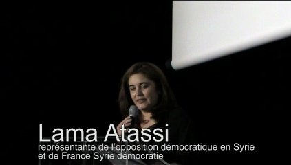 sous-titrons la légende officielle : Lama Atassi, une vraie Syrienne comme les aiment BHL, Schalscha et autres bobo-sionistes