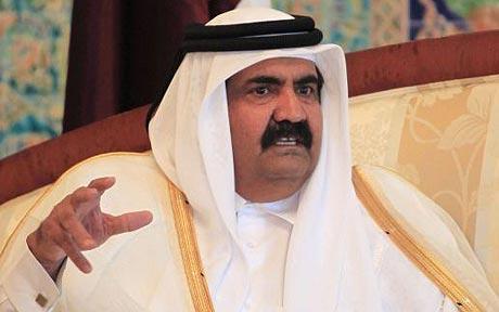 L'émir du Qatar...