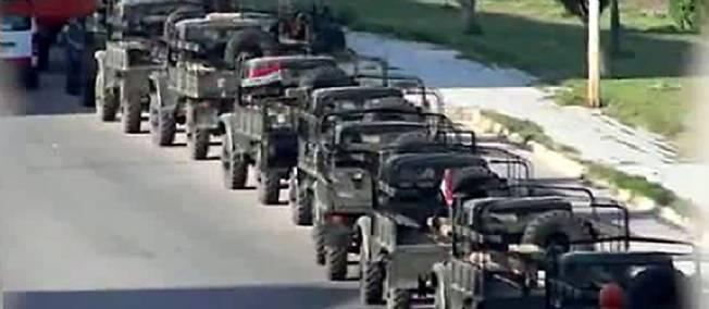 L'armée à Homs, en juillet : une présence toujours nécessaire, aussi longtemps que les snipers existeront