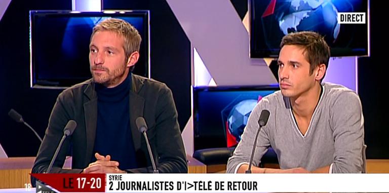 Marc de Chalvron (à gauche) : traiter la situation syrienne comme un sitcom d'AB Productions