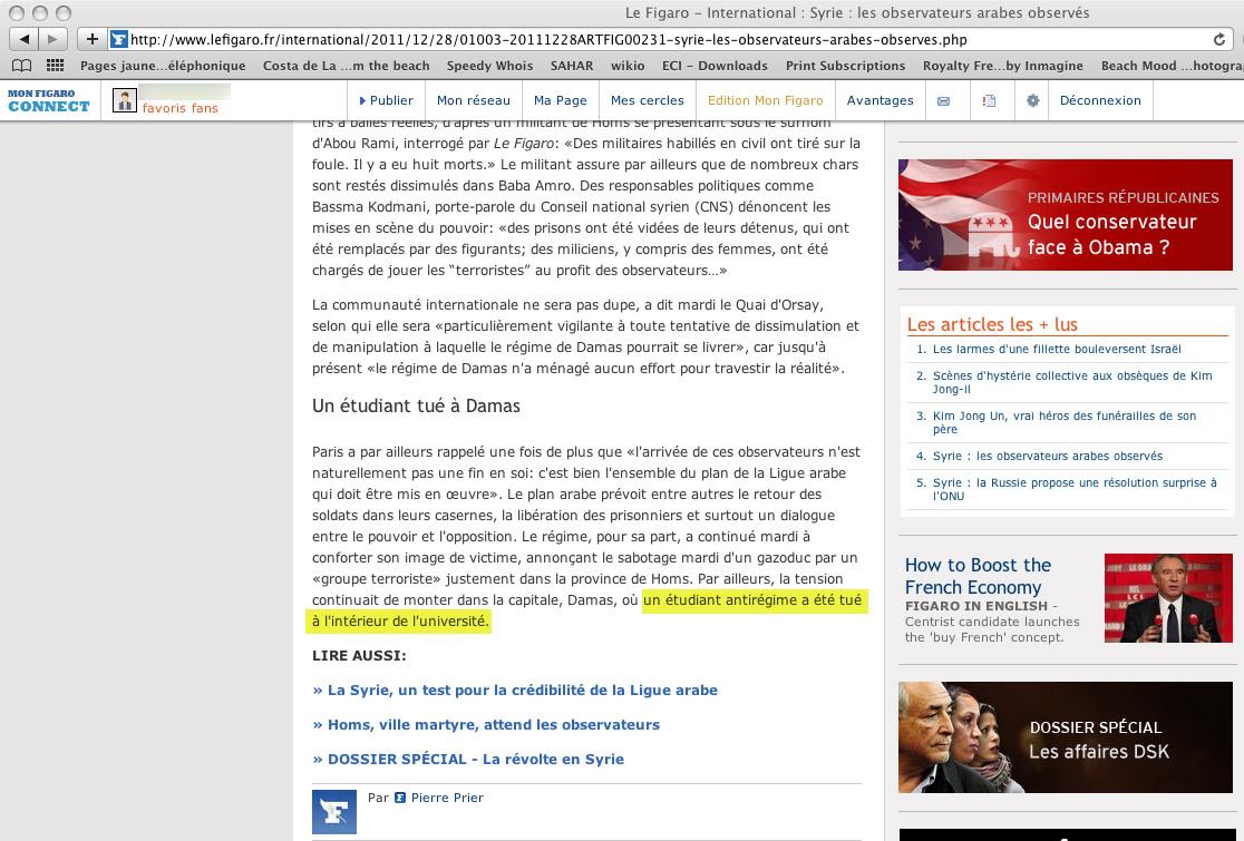 Le Figaro pris en flagrant délit de mensonge. Jusqu'à la prochaine...