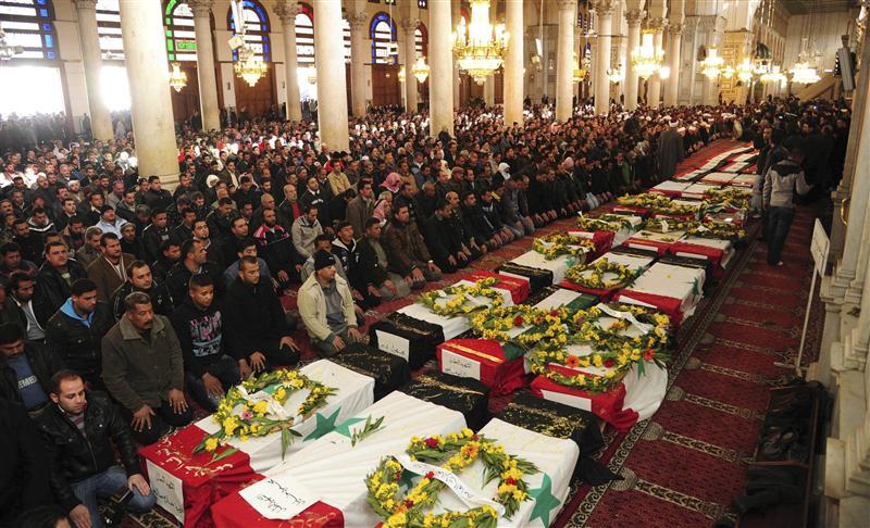 Obsèques des victimes des Attentats de Damas