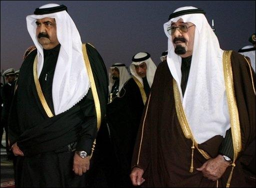 Leurs Majestés pétrolières du Qatar et d'Arabie Séoudite, promues spécialistes des droits de l'homme en terre arabe par nos plus distingués analystes