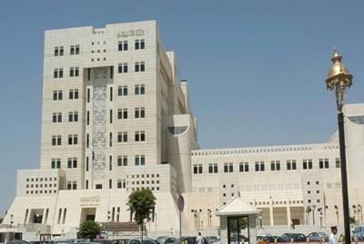 Le siège du ministère syrien des Affaires étrangères...