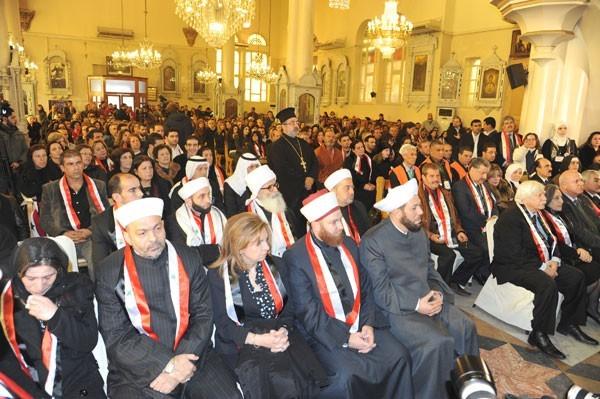 Cérémonie mixte islamo-chrétienne à Damas, en janvier dernier : la fin de Bachar signifierait la fin de l'exception religieuse syrienne