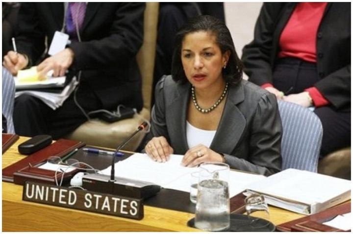 18 février 2011 : la représentante américaine au Conseil de sécurité oppose le 83e véto américain. Contre un projet de résolution arabe qui condamnait, il est vrai, non la Syrie mais Israël pour l'ensemble de son oeuvre en Palestine