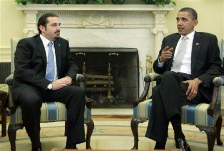 Obama et son homme-lige libanais, Saad Hariri : le premier a une carte libanaise à jouer contre Damas, le second a une revanche à prendre contre Beyrouth