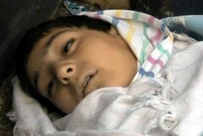 """Malek al-Aktaa, enfant de 11 ans tué à Homs... mais par de insurgés, et donc non """"homologable"""" par nos médias"""