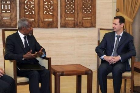 Il se confirme que Bachar s'est montré très ferme vis-à-vis de Kofi Annan, et donc de l'ONU et de la Ligue arabe