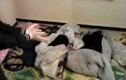 Une image des corps fournie par les opposants